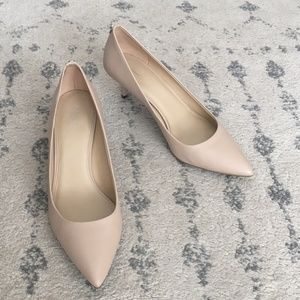 Michael Kors Flex Kitten Heel Pumps Nude Leather